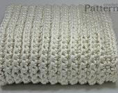 "Chunky Afghan Fisherman Style Sofa Throw Crochet PATTERN 60"" x 48""/(152 x 122) cm - PDF 6048"