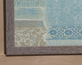 Blue and brown fabric magnetic board
