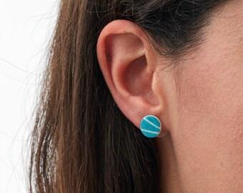 Turquoise Pebble Stud Earrings