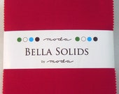 Moda Bella Solids Red Charm Pack - 42 5 x 5 Inch Squares