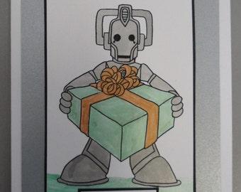 Dr Who Cybermen Card Birthday or Blank