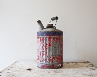 Vintage Red Gas Canister Metal Gas Can Small Gas Canister