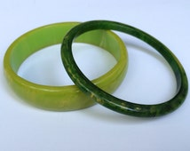 Green Bakelite Bangles