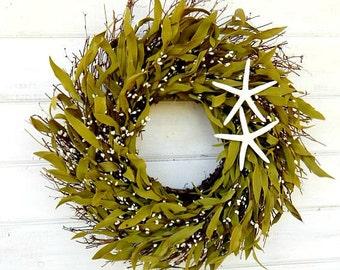 Coastal STAR FISH Twig-Beach Decor-Coastal Home Decor-SCENTED Wreath-Rustic Home Decor-Holiday Gifts-Bathroom Decor-Custom Made usa