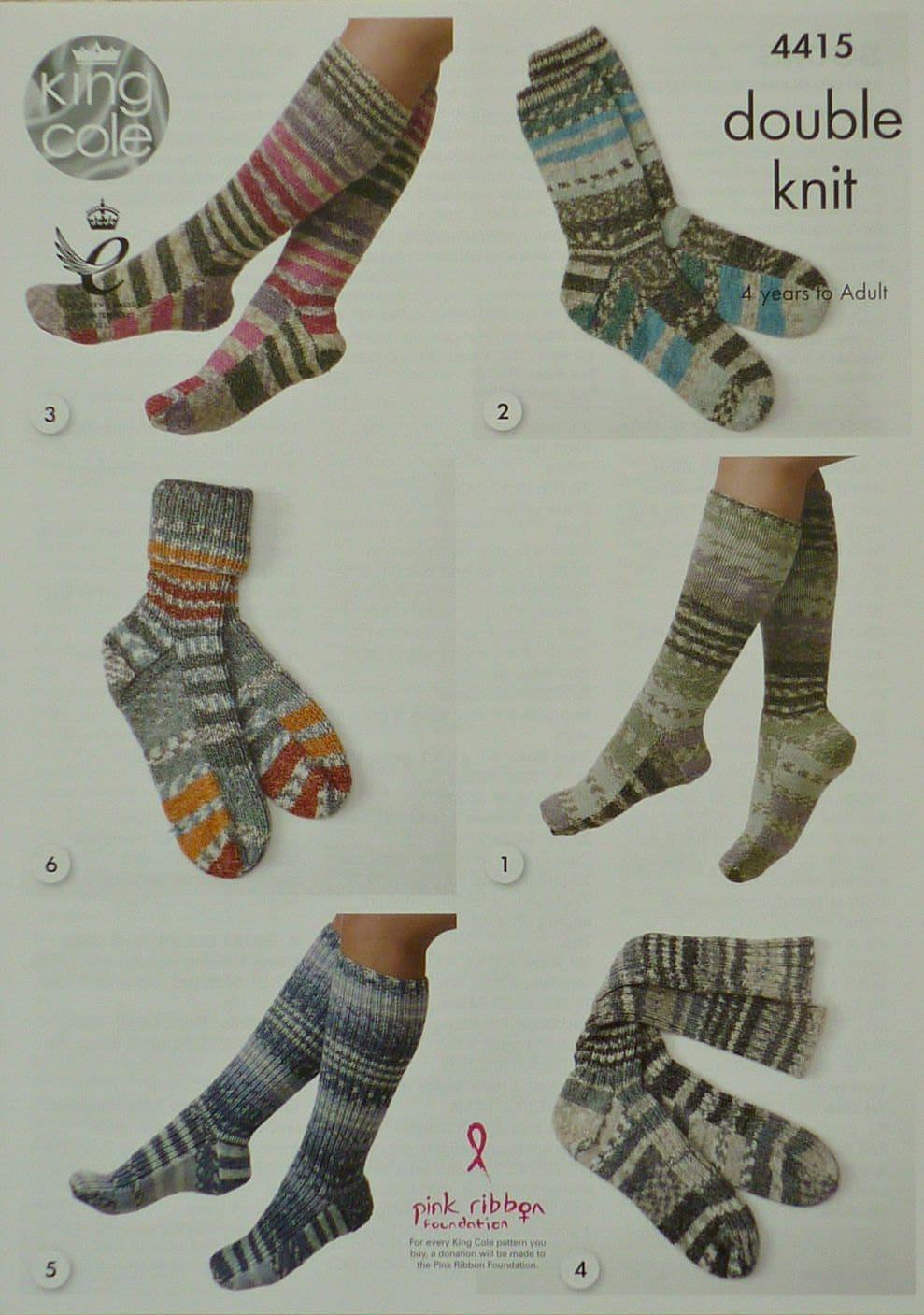 Knitting Pattern Women s Socks : Womens Knitting Pattern K4415 Mens/Ladies/Childrens Socks ...