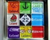 LELAND, Michigan - M22, Manitou Islands, Up North Michigan, Michigan Magnets Set, Northwest Michigan Souvenir, Traverse City, Leelanau