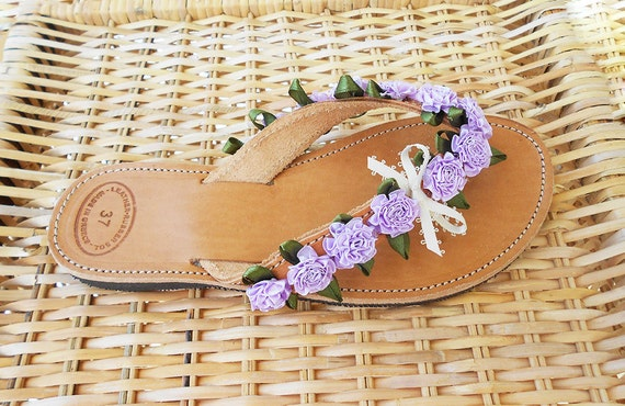 Lilac Flip Flops Lilac Bridal Sandals Lavender Bridesmaid-4422
