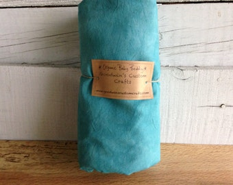 Organic Baby Bedding, Crib Sheet, Changing Pad Cover - Hand Dyed Kingfisher Blue