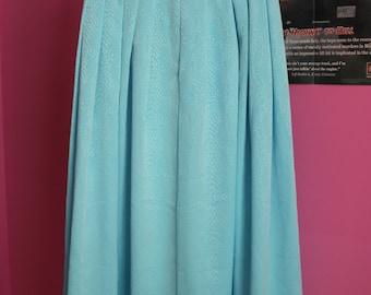 Vintage light blue maxi skirt Elsa Frozen