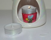Oil Burner Honey Bee T-Candle Holder.