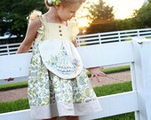Kate Dress, Top, Shorts AND Handkerchief PDF Pattern & Tutorial, {Apron Style} All Sizes 2T-10 years included