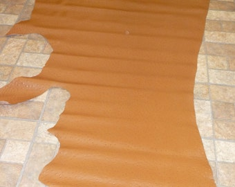 Ostrich Leather 20 sq ft OSTRICH Oak Tan / Walnut Brown Emu Embossed Cowhide 2.5 oz / 1mm  PeggySueAlso™ E2870-13