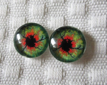 Zombie  doll eyes -spooky eyes for figurines and dolls