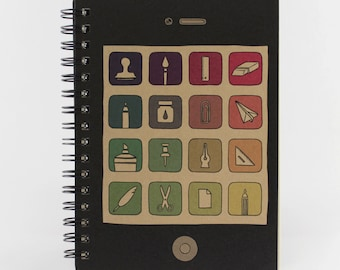 "Spiral Notebook ""Phony Phone"", Small Spiral Bound Notebook, Funny Notebook"