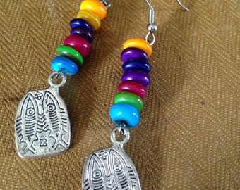 Day of the Dead dead fish earrings