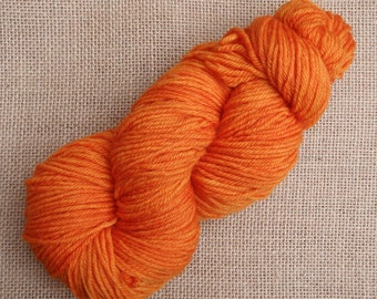 "Hand dyed British Bluefaced Leicester Double Knit yarn in ""Direction and magnitude"""