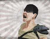 Furiosa, Mad Max Fury Road Inspired Art Print by Alicia VanNoy Call