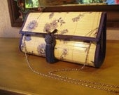 Painted Bamboo Clutch--China Blue Placemat Bag