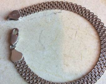 925 Italian sterling chain bracelet
