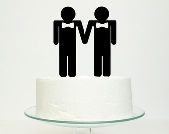 The Grooms Gay Wedding Cake Topper