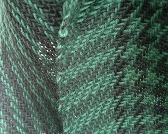 Green and dark green scarf