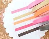Thin Washi Tapes: Chocolate Neon