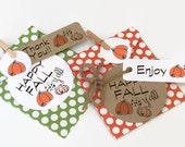 Fall Gift Tags / Party Favor Tags / Product Packaging Supplies / Thanksgiving Tags / Gift Wrap / Paper Crafting / Kraft Tags / Hang Tags