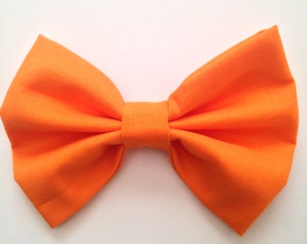 Orange Hair Bow, hair bow, Hair Bow for Women, hair bow for teens, fabric bow, hair bow clip, hair bow accessory