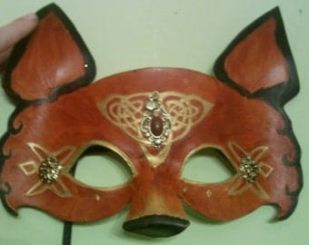 Spirit Animal Leather Mask - Trickster