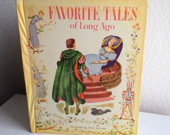 Vintage Children's Book - Favorite Tales of Long Ago - 1943