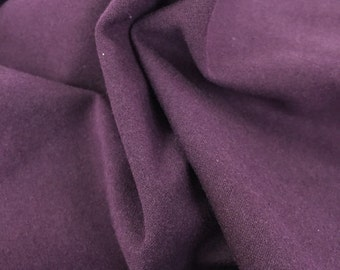 Cotton Lycra Spandex Knit Jersey Fabric by the yard Dark Eggplant