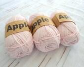 Light Pink Bamboo yarn,Each skein: 100 gr, knitting yarn