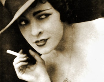 MATURE... Smokin'... Deluxe Erotic Art Print... Vintage Nude Photo... Available In Various Sizes