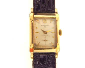 Vintage Gruen Precision Veri-Thin 21 Jewels Watch Grade 335R