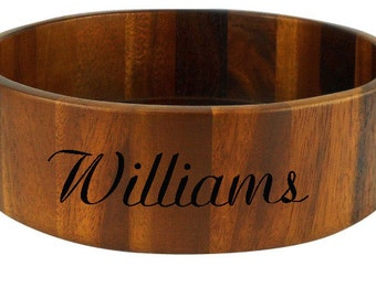 Personalized Wooden Bowl