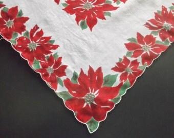 Holiday Hankie, Handkerchief, Ladies Handkerchief, Vintage, Handkerchiefs, Hankerchief, Holiday Print, 1960s, All Vintage Hankies