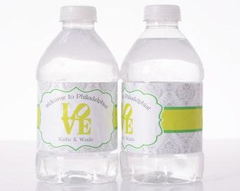 Vintage Wedding Decor - 50 Wedding Water Bottle Labels - Custom Water Bottle Labels - Waterproof Water Bottle Labels