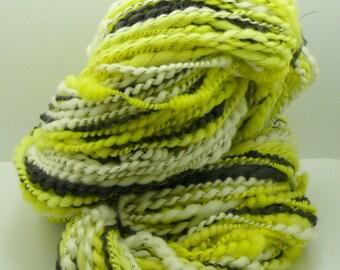 Reduced 10%!  Bumbles is a custom two ply Art Yarn handspun with alpaca, bamboo and merino yarn