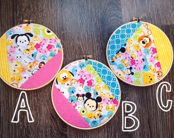 Tsum Tsum Fabric Embroidery Hoop Wall Decor-you choose your favorite