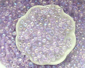 TOHO beads, size 11/0, lilac seed beads, Dyed-Rainbow Lavender Mist N 477, rocailles, glass beads - 10g - S575