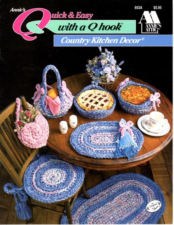 Kitchen Decor Crochet Pattern Book Vintage