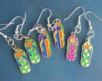 Flip Flop, Sandal, Dangle Earrings! BEST SELLER! Beach Earrings, Summer Earrings, Vacation Wear, Casual Style, Gifts for Her