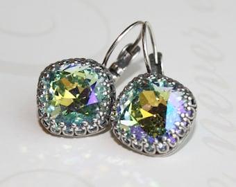 Light Azore Swarovski Earrings, Rhinestone earrings, Swarovski earrings, Swarovski Crystal