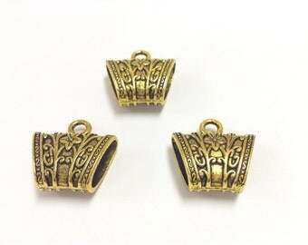 3 gold Plated bail findings