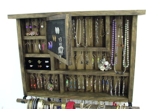 Dark Walnut Jewelry Organizer