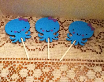 Cute Under The Sea Cupcake Toppers Set of 12