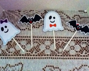 Cute Halloween Cupcake Toppers Set of 12