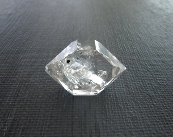 Herkimer Diamond Genuine from NY 1 Raw Crystal 22mm x 15mm / 23 Carats Natural Rough Stone from Upstate New York for Jewelry (Lot 9220)