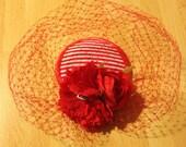 Red pinup fascinator