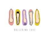 Ballerina Love - 8x10 Illustration Art Print